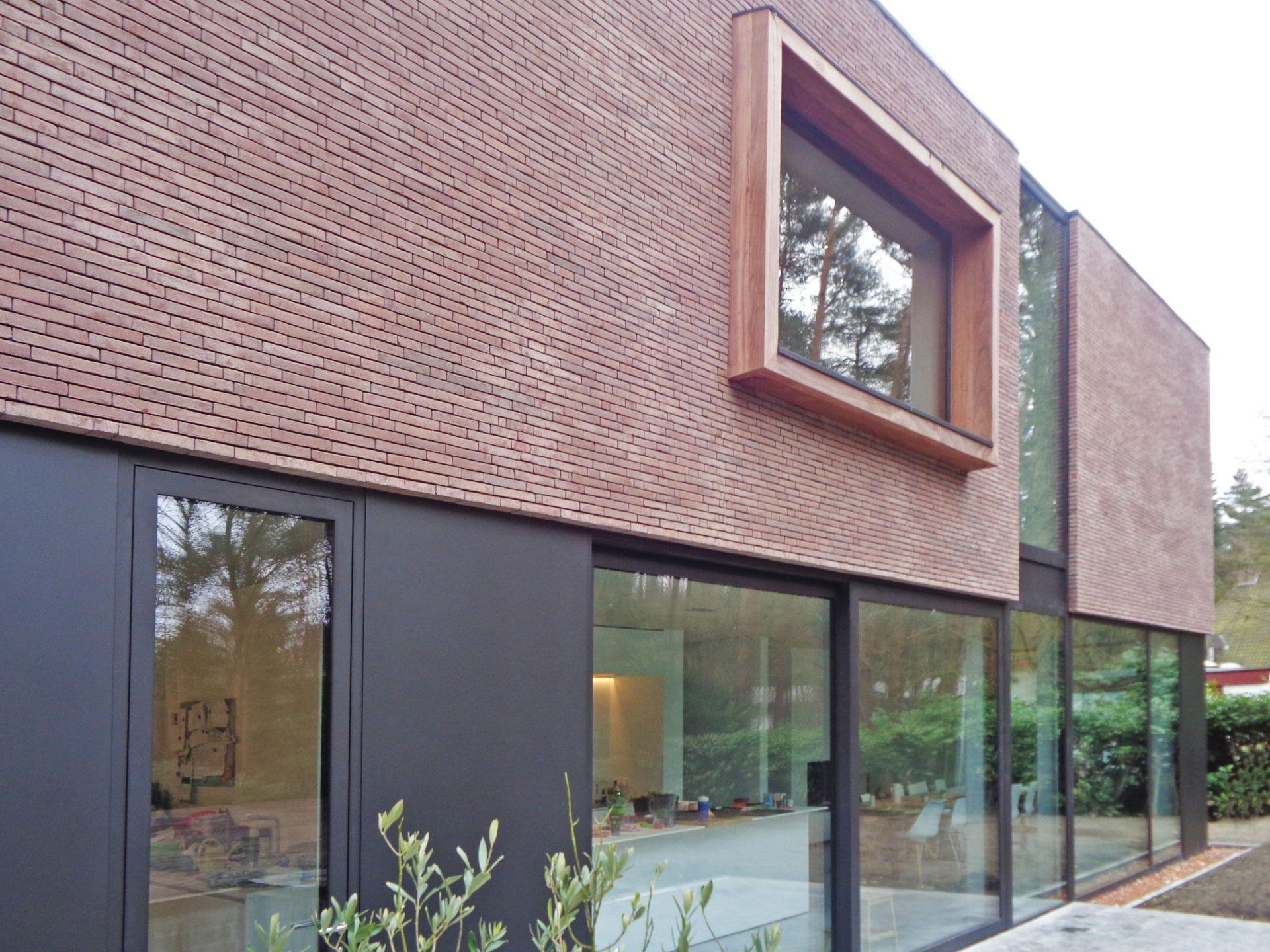 nieuwbouw woning te Vosselaar, moderne architectuur
