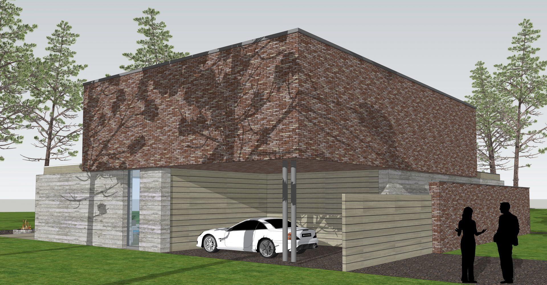 ontwerp villa woonbos Bergeijk